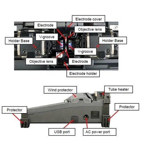 Máy hàn cáp quang Fujikura 21s (Ngừng sản xuất, tham khảo Fujikura 22s)