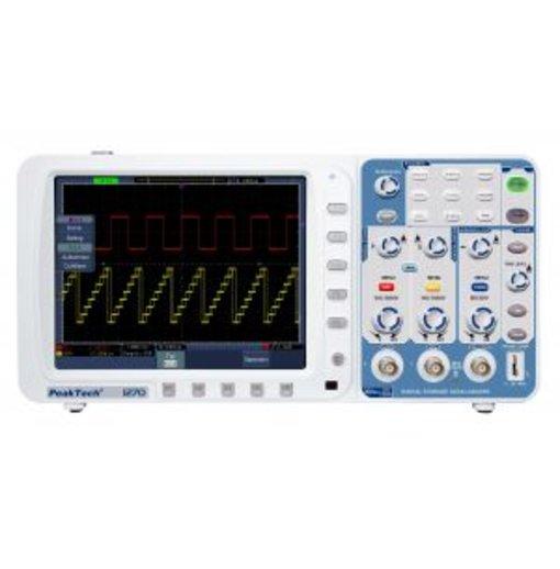Máy hiện sóng PeakTech 1275 (Băng tần 300 MHz/2Channel, tốc độ lấy mẫu 3,2GSa/s)