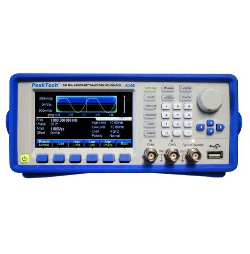 Máy phát xung tùy ý PeakTech 4046 (2 channel, 1μHz -160 MHz)