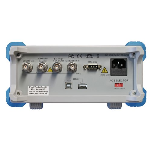 Máy phát xung tùy ý PeakTech 4165 (2 channel, 1μHz - 60 MHz)
