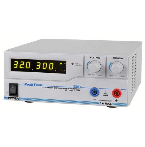 Nguồn lập trình DC PeakTech 1585 (output: 1 - 32V/0 - 30A)