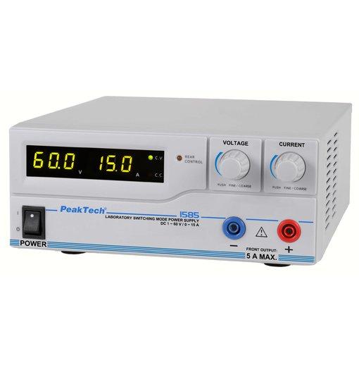 Nguồn lập trình DC PeakTech 1585 (output: 1 - 60V/0 - 15A)