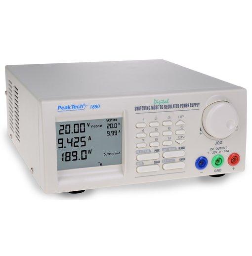 guồn lập trình DC PeakTech 1890 (output: 1 - 20V/0 - 10A)