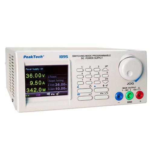 Nguồn lập trình DC PeakTech 1895 (output: 1 - 36V/0 - 10A)
