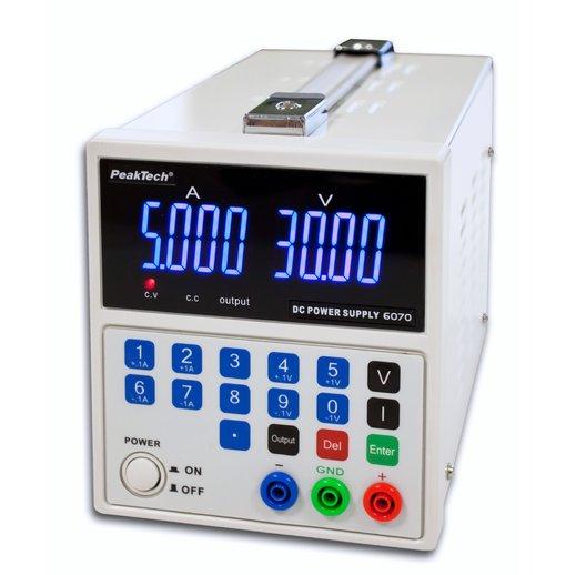 Nguồn lập trình DC PeakTech 6070 (0 - 30V, 0 - 5A DC with USB)