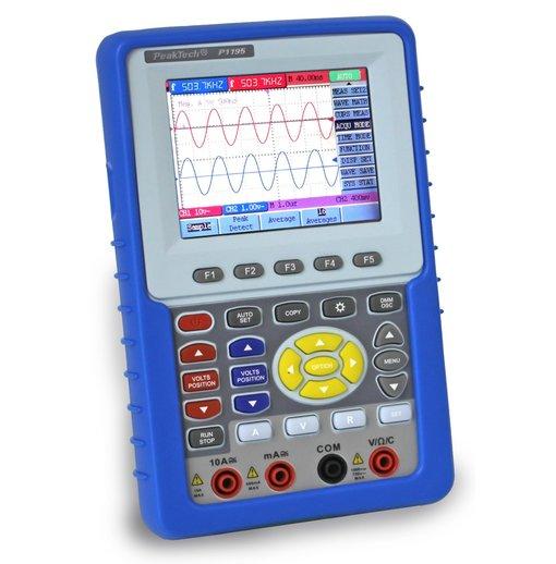 Máy hiện sóng cầm tay PeakTech 1195 (100MHz, 2Channel, ~1GS/s) tích hợp đồng hồ vạn năng