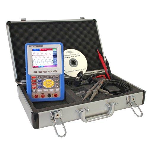 Máy hiện sóng cầm tay PeakTech 1205 (20MHz, 2Channel, ~100MS/s) tích hợp đồng hồ vạn năng